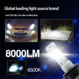 Trois 6500K latéraux lumineux superbes en gros 8000lm 9005 9006 ampoule H7 de phare du véhicule DEL DEL de H10 9012 H8 H11