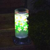 Het zonne Licht van de Tuin met het Zonnepaneel van de Batterij 2000mAh van het Lithium