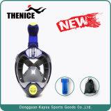 Respiração livre máscara de mergulho com máscara de mergulho Snorkeling 180 Graus Face Completo