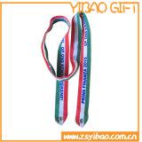 Boucle en métal plat Lanière en polyester avec crochet en métal (YB-ly-33)