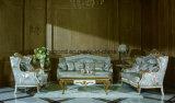 0067 Madeira maciça esculpida de mão angustiadas Planície clássica pintura Sofá
