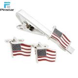 Metal de qualidade superior personalizado bandeira dos Estados Unidos clipe para gravata de vestuário para homens