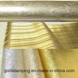 Folha de alumínio de carimbo quente de transferência térmica da cor do ouro para o papel de parede