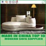 白いカラーイタリアの革ソファーの一定の家具