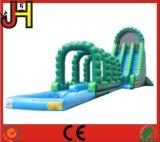 Diapositiva combinada inflable con la piscina para la venta