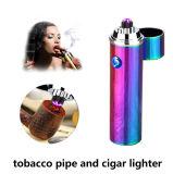 Isqueiro recarregável do USB da tubulação e do charuto de tabaco