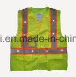 Vestiti di sicurezza con l'indicatore luminoso del LED