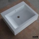 現代石造りの浴室の倍の虚栄心の洗面器(B170920)