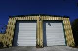 Almacén de acero de la vertiente prefabricada, almacén de acero ensamblado fácil de la estructura de la cortina para la venta
