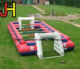 Campo de futebol inflável, campo de jogos inflável da corte da parede do futebol do sabão