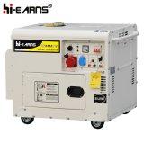 Tipo silencioso refrigerado a ar gerador Diesel do único cilindro trifásico (DG4500SE3)