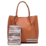 As mulheres elegante mala grande shopping Soft Lady Sacola grande com carteira malas para venda por grosso SH395