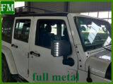 Couverture de miroir avec le signal lumineux de DEL pour le Wrangler 2007-2017 de jeep