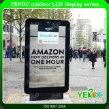 Im Freien wasserdichte bekanntmachende LCD-Bildschirmanzeige