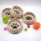 Kom van de Hond van het Huisdier van het Patroon van de voetafdruk de Plastic, de Nieuwe Levering van het Huisdier