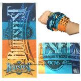 カスタマイズされたデザインロゴによって印刷されるポリエステル青く継ぎ目が無い魔法の表面管のスカーフ