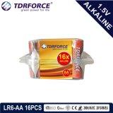 Alkalische Batterij van de Fabriek van China van Mercury&Cadmium de Vrije ultra met de Doos 16PCS van pvc (Grootte LR6/AA)