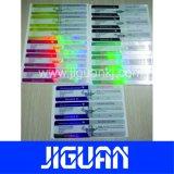 Adhesivo impermeable de color diferente del holograma etiqueta Anti-Fake Vial