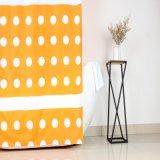 O OEM / ODM DOT Design Branco cortina do chuveiro com Anti-Crease