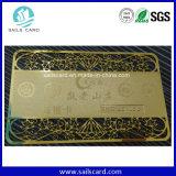 Schede incise del metallo/biglietto da visita speciale del metallo