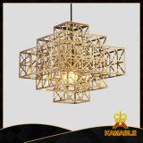 A decoração dourada moderna personaliza a luz do pendente (GD18133P)