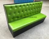 販売のための真新しい緑色のソファのソファーブースの座席