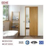 Porta deslizante de madeira que desliza o interior e o exterior da porta de celeiro
