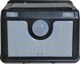 Licht van de Muur van de Sensor van de Vorm 24LEDs van de fabriek het Privé Zonne