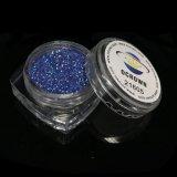El brillo azul marino de 21605 hologramas forma escamas surtidor