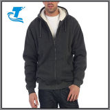 Mens Sherpa doublée polaire pull Zip Hoodie Jacket