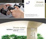 Função Dupla em aço inoxidável novos acessórios de casa de banho com chuveiro de efeito chuva definido
