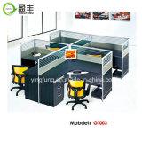 Poste de travail d'équipe de bureau avec le panneau et les tiroirs YF-G1003 de clavier de dégagement
