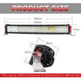Nuevo 30000 Lúmenes Ce RoHS al por mayor de 12 voltios de la barra de luz LED, Jeep 384W 4 hileras 22 pulgadas de la barra de luz LED Offroad