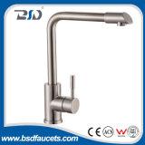 Nickel balayé par robinet de bassin de mélangeur de cuisine de l'eau de Hot&Cold d'acier inoxydable