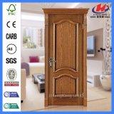 Pele branca moldada nova da porta da melamina da madeira contínua (JHK-MN06)