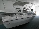 Fibre de verre rigide de coque de Liya 500 bateaux de support de canne à pêche