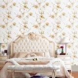 Behang van de Decoratie van het Ontwerp van de Luxe van de Bloem van het huis het Vinyl