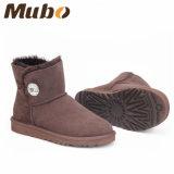 Caricamenti del sistema della caviglia della neve di inverno della pelle di pecora di modo per le donne