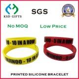 Bijou fait sur commande en gros de mode, bracelets de silicones avec votre nom