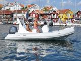 рыболовство рыбацкой лодки шлюпки Fishign стеклоткани шлюпки 5.8m твердое раздувное