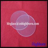 Glace ronde de quartz de silice de qualité
