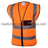 Gilet r3fléchissant de sûreté d'Ecurity de gilet pour la circulation