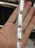 Tessuto della decorazione dell'abito del testo fisso del merletto della catena del metallo del branello del Rhinestone di modo