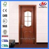 Porta de vidro do balanço Tempered de madeira interior (JHK-G13)