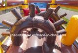 Riesiger aufblasbarer Hindernis-Kurs-aufblasbarer Piraten-Lieferungs-Prahler kombiniert