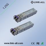 30dB 120km 1,25 GB/S DWDM módulo transceptor de fibra óptica SFP