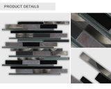 新しい傾向のEuropen様式の浴室のガラスアルミニウムタイルの暗い灰色の長いストリップガラスのモザイク