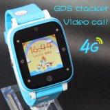 Reloj elegante del GPS de la llamada video impermeable 4G