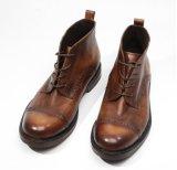 Design personalizado de couro da panturrilha homens vestidos de tornozelo Cowboy Homens de Inicialização