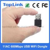802.11AC 600Mbps 2.4G/5g se doblan adaptador de alta velocidad del USB WiFi de la radio de la venda